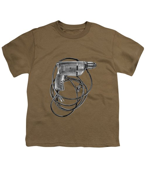 Craftsman Drill Motor Bs Bw Youth T-Shirt by YoPedro