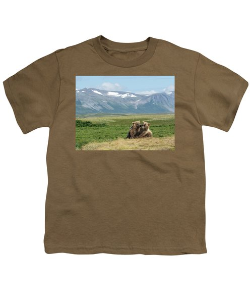 Cubs Playing On The Bluff Youth T-Shirt