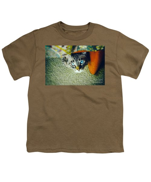 Youth T-Shirt featuring the photograph Curious Kitty by Silvia Ganora