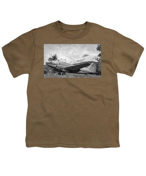 Curtiss C-46 Commando - Bw Youth T-Shirt