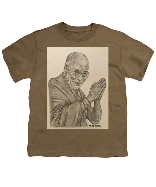 Dalai Lama Tenzin Gyatso Youth T-Shirt by Kent Chua