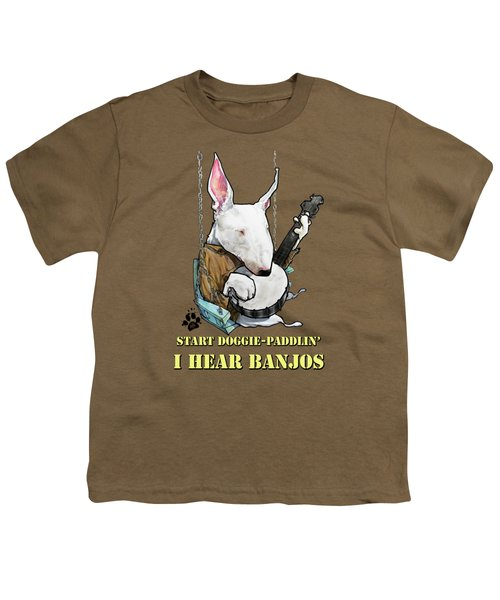Deliverance Bull Terrier Caricature Art Print Youth T-Shirt