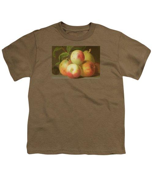 Detail Of Apples On A Shelf Youth T-Shirt by Jakob Bogdany