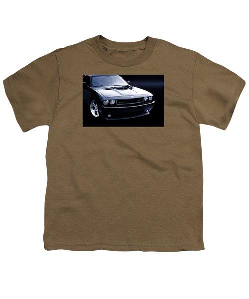 Dodge Challenger Blackbird Sr-71 Youth T-Shirt by Thomas Burtney
