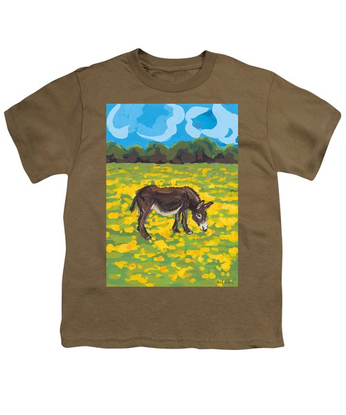 Donkey And Buttercup Field Youth T-Shirt by Sarah Gillard