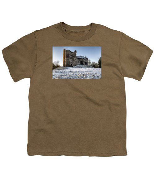 Doune Castle In Central Scotland Youth T-Shirt by Jeremy Lavender Photography