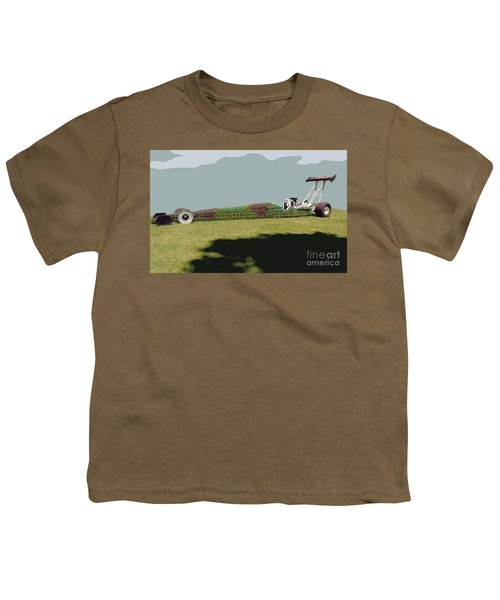 Dragster Flower Bed Youth T-Shirt