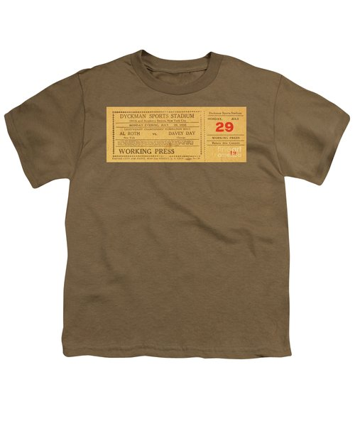 Dyckman Oval Ticket Youth T-Shirt by Cole Thompson