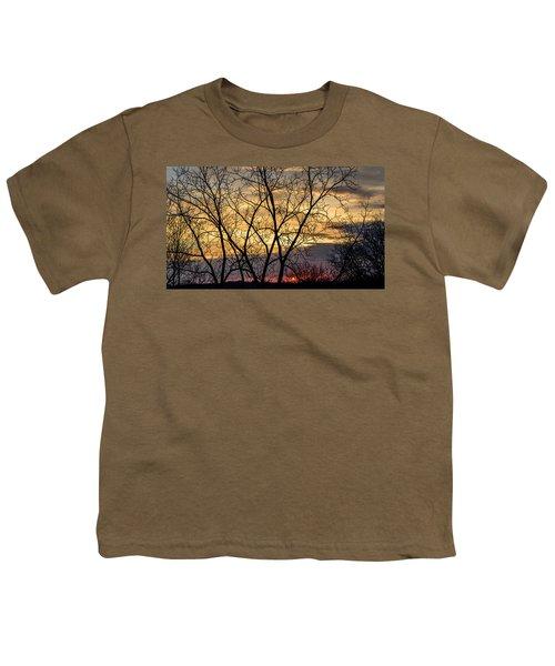 Early Spring Sunrise Youth T-Shirt by Randy Scherkenbach
