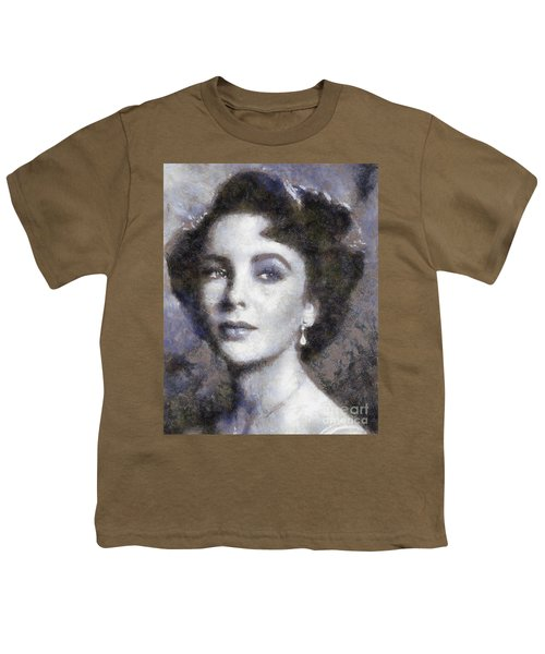 Elizabeth Taylor By Sarah Kirk Youth T-Shirt