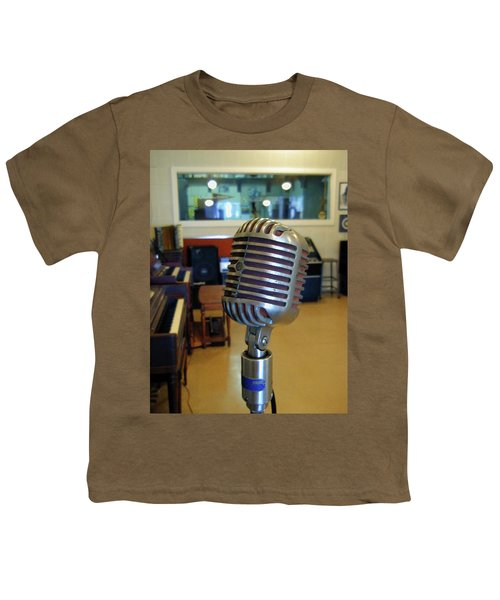 Youth T-Shirt featuring the photograph Elvis Presley Microphone by Mark Czerniec