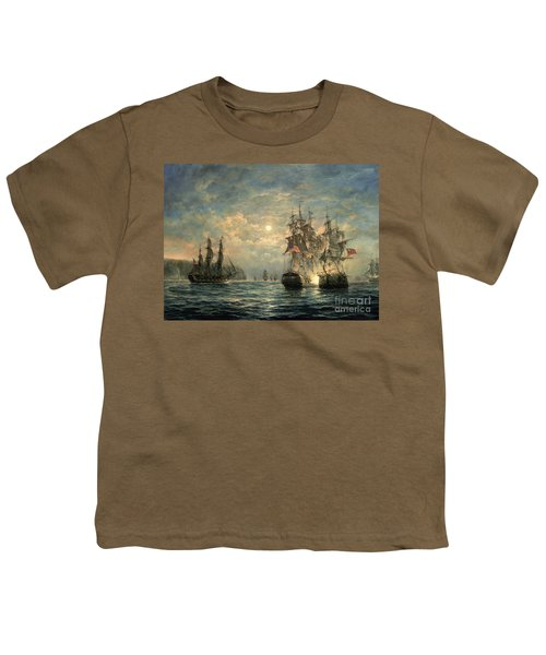 Engagement Between The 'bonhomme Richard' And The ' Serapis' Off Flamborough Head Youth T-Shirt
