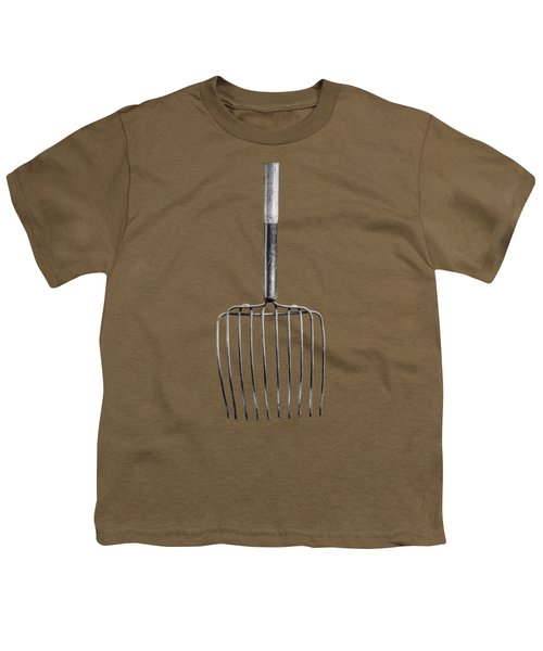 Ensilage Fork Down Youth T-Shirt by YoPedro