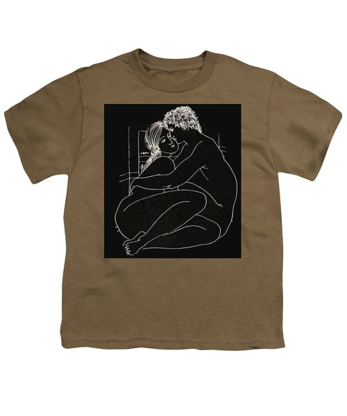 Youth T-Shirt featuring the digital art Enveloped by Kim Kent