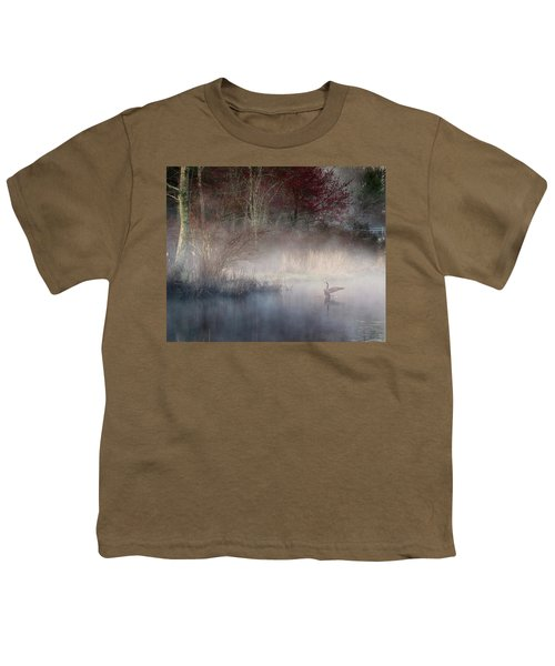 Youth T-Shirt featuring the photograph Ethereal Goose by Bill Wakeley