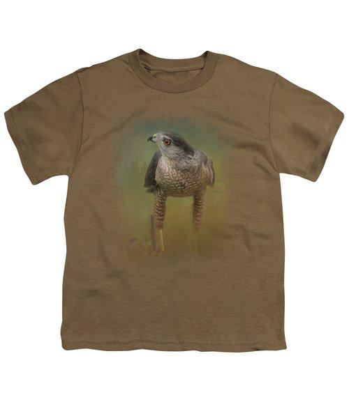 Evening Hawk Youth T-Shirt by Jai Johnson