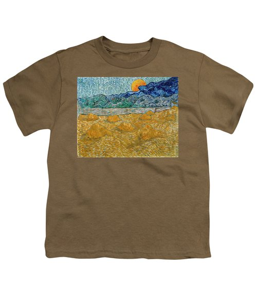 Youth T-Shirt featuring the painting Evening Landscape With Rising Moon by Van Gogh