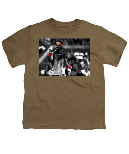 Fabio Fognini Youth T-Shirt by Brian Reaves