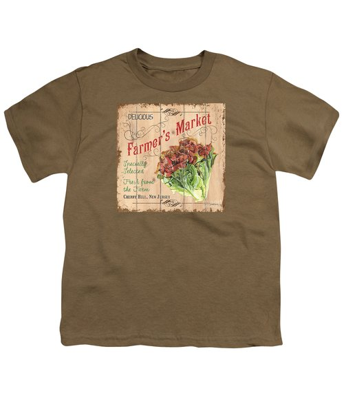 Farmer's Market Sign Youth T-Shirt by Debbie DeWitt