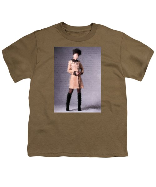 Youth T-Shirt featuring the digital art Fiona by Nancy Levan