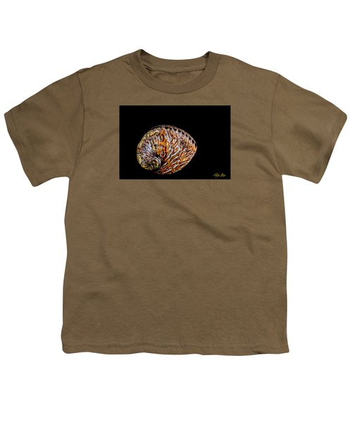Youth T-Shirt featuring the photograph Flame Abalone by Rikk Flohr