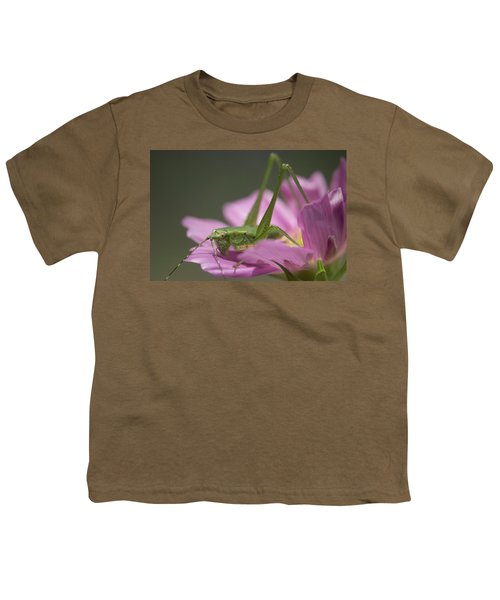 Flower Hopper Youth T-Shirt by Michael Eingle