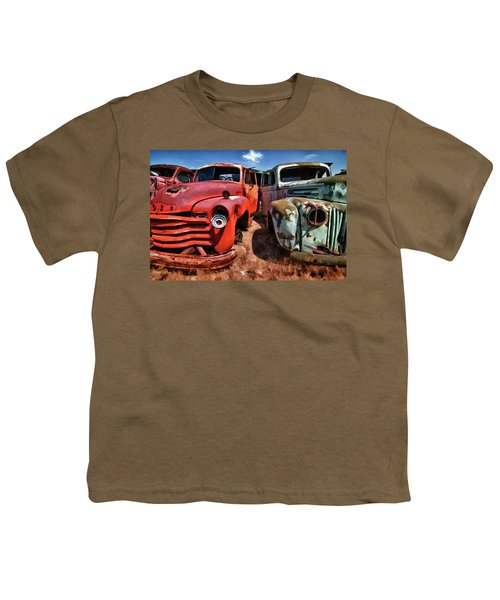 Ford And Chevy Standoff Youth T-Shirt