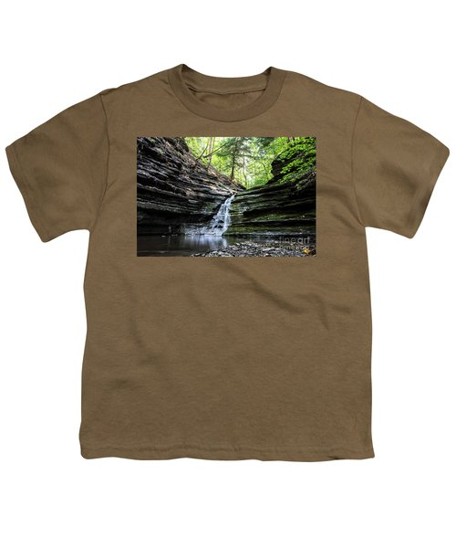 Youth T-Shirt featuring the photograph Forest Waterfall by MGL Meiklejohn Graphics Licensing