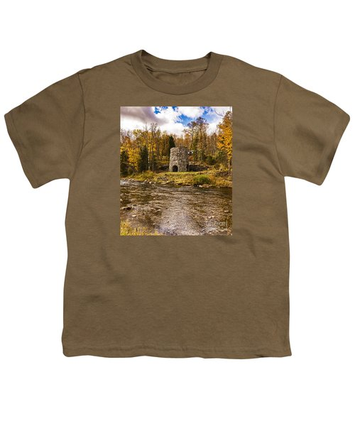 Youth T-Shirt featuring the photograph Franconia Fall by Anthony Baatz