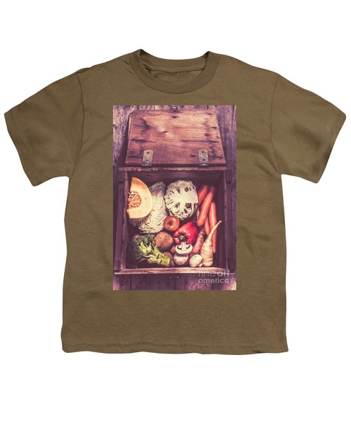 Fresh Vegetables In Wooden Box Youth T-Shirt