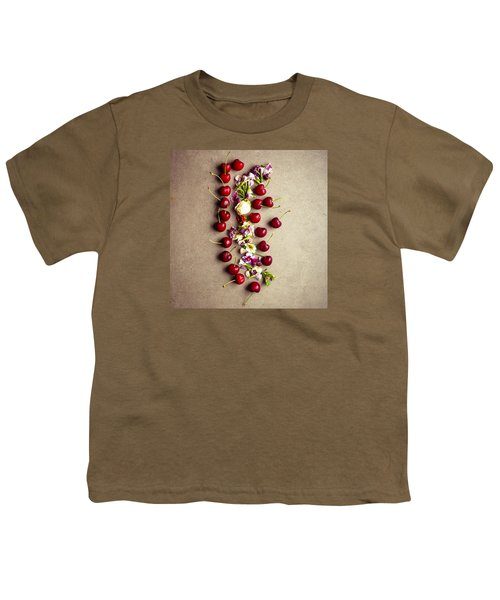 Fruit Art Youth T-Shirt by Nicole English