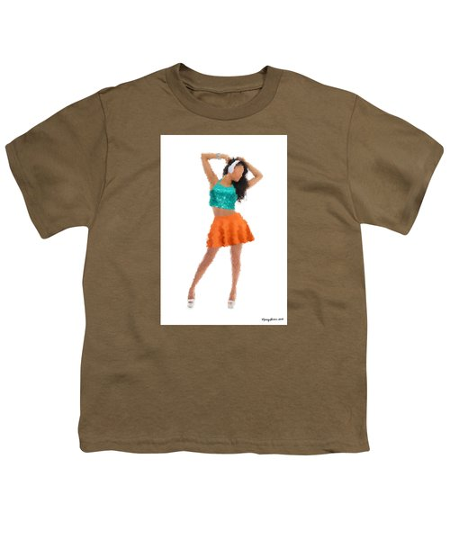 Youth T-Shirt featuring the digital art Gaby by Nancy Levan