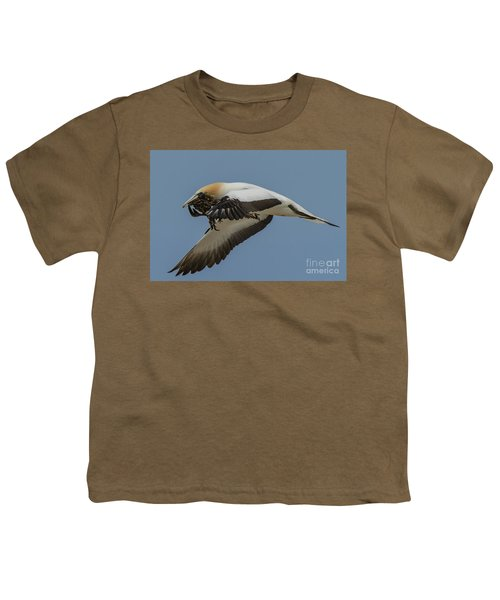 Youth T-Shirt featuring the photograph Gannets 1 by Werner Padarin