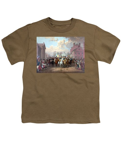 General Washington Enters New York Youth T-Shirt