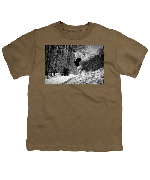 Youth T-Shirt featuring the photograph Getting Air On The Snowboard by David Patterson