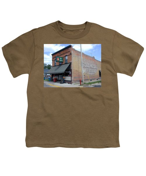 Youth T-Shirt featuring the photograph Gina's Pies Are Square by Mark Czerniec