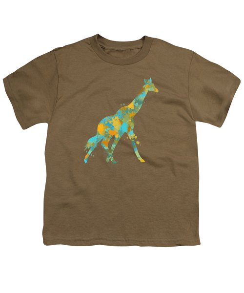 Giraffe Watercolor Art Youth T-Shirt