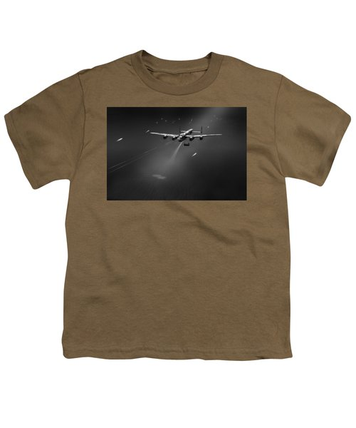 Youth T-Shirt featuring the photograph Goner From Dambuster J-johnny Bw Version by Gary Eason