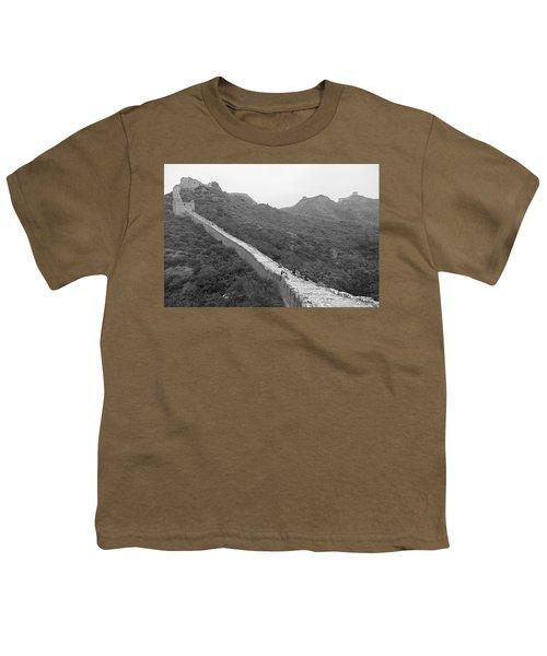 Youth T-Shirt featuring the photograph Great Wall 4, Jinshanling, 2016 by Hitendra SINKAR
