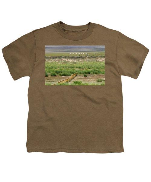 Youth T-Shirt featuring the photograph Greenery In Desert, Gobi, 2016 by Hitendra SINKAR
