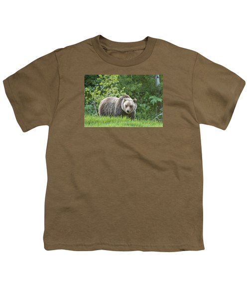 Youth T-Shirt featuring the photograph Grizzly Bear by Gary Lengyel