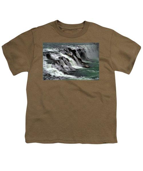Gullfoss Waterfalls, Iceland Youth T-Shirt