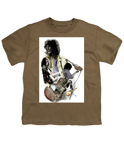 Hammer Of The Gods   Jimmy Page Youth T-Shirt by Iconic Images Art Gallery David Pucciarelli