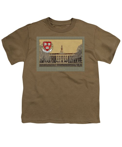 Harvard University Building With Seal Youth T-Shirt