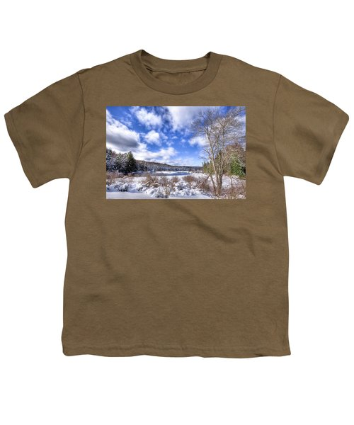 Youth T-Shirt featuring the photograph Heavy Snow At The Green Bridge by David Patterson