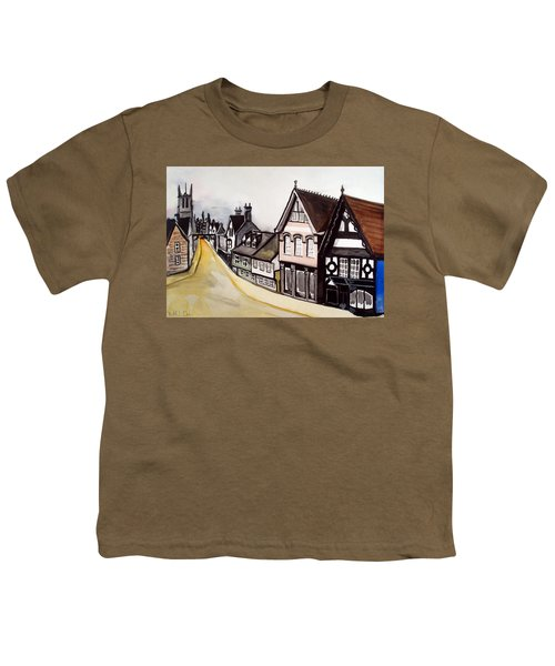 High Street Of Stamford In England Youth T-Shirt by Dora Hathazi Mendes