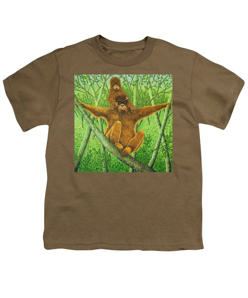 Hnag On In There Youth T-Shirt by Pat Scott