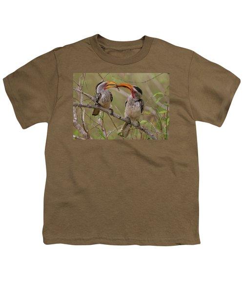 Hornbill Love Youth T-Shirt by Bruce J Robinson