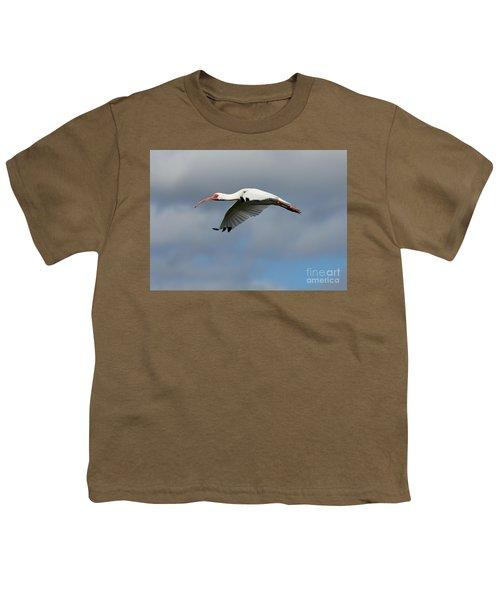 Ibis In Flight Youth T-Shirt by Carol Groenen