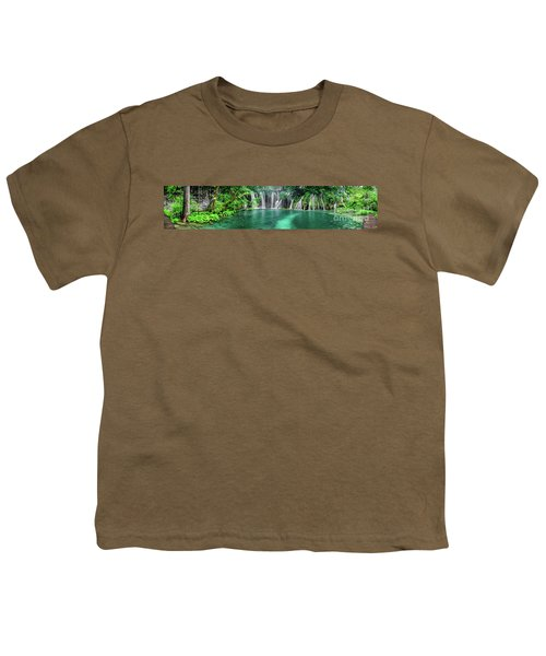 Into The Waterfalls - Plitvice Lakes National Park Croatia Youth T-Shirt